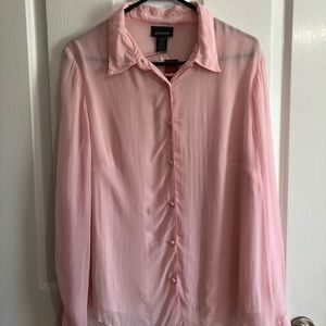 NWT pink sheer lined Avenue blouse 14-16